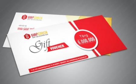 Báo giá in phiếu quà tặng tại Vinaprint